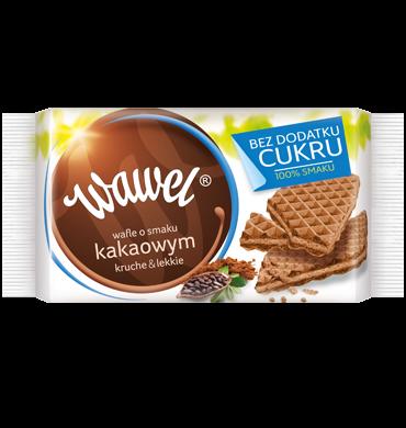 Wafle o smaku kakaowym